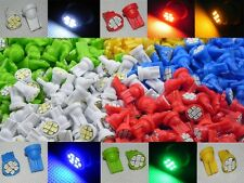 100X T10 1206 8 SMD 168 194 White Blue Red Green Yellow LED Light Bulb A101
