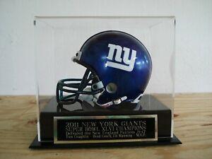 Super Bowl XLVI Football Mini Helmet Display With A New York Giants Nameplate