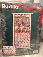 Bucilla Santa's Workshop Advent Calendar Counted Cross Stitch Kit Vtg. New