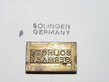 Alter Messing Stempel - Solingen Germany - Druckplatte ?      #4319