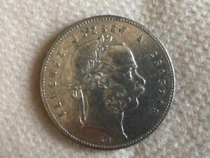 Ungarn 1 Forint  Franz Joseph I. Silber  1869