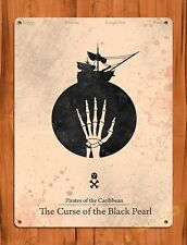 TIN SIGN Disney Pirates Of The Caribbean Curse Of The Black Pearl Movie Poster