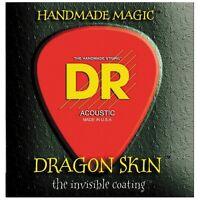 DR Strings DSA-12 Dragon Skin K3 Coated Medium Acoustic Guitar Strings 12-54