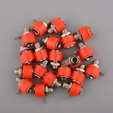 Hot 20pcs 4mm Red Banana Sockets Jacks For Banana Plug Post Connector