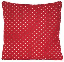 """Polka Dots Cushion Cover White and Red Printed Fabric Throw Pillow Case 14"""""""