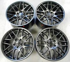 "19"" ALLOY WHEELS TO FIT BMW M3 CSL E46 E90 E92 E93 STAGGERED MAT BLACK 5X120"