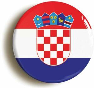 CROATIA CROATIAN CROAT NATIONAL FLAG BADGE BUTTON PIN