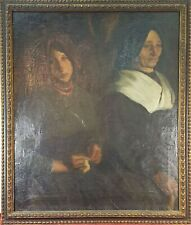 PORTRAIT OF LADY COUPLE. OIL ON CANVAS. VICTOR MOYA. 1914
