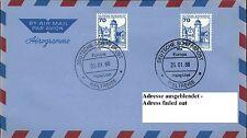 Dt. Schiffspost MS EUROPA 1988 WELTREISE Hapag-Lloyd Schiffsstempel Shipletter