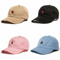 Mens Baseball Caps Unisex Peak Caps Baseball Hats Flower Rose Embroidered J8X1
