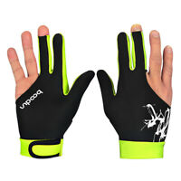 1Pc Left/Right Hand Unisex 3 Finger Elastic Billiard Snooker Pool Glove Welcome