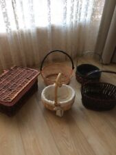 Cane Baskets X 5 Some New , pick Up Only