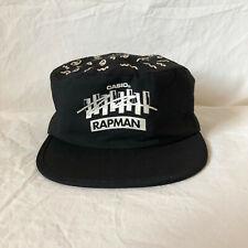 Vintage 80s Casio Rapman Keyboard Promo Pillbox Painters Snap Back Cap Black VTG