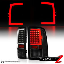 [OLED Neon Tube] 13-15 Dodge Ram 1500 2500 3500 Black Clear LED Tail Light Lamp