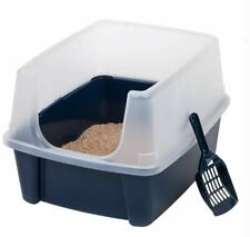 Jumbo Large Cat Litter Box Pan Enclosed Hooded Covered Kitty House With Scoop