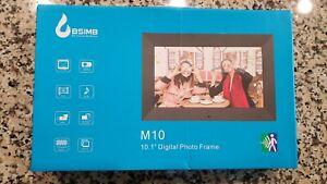 "BSIMB 10.1"" Digital Photo Picture Frame 1080P Video 1024x600 IPS Screen"