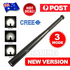 Long Baseball Bat Flashlight Torch Zoomable 3 Mode Q5 LED Lamp Security Tactical