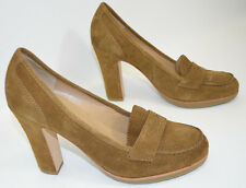 "Talbots Brown Suede Platform Pumps Shoes 4"" Heel Women's 7 M"
