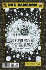 STAR WARS POE DAMERON 22 MIKE DEL MUNDO 40th ANNIVERSARY VARIANT PRE-SALE 12/13