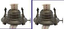 Pair(2) ANTIQUE FINISH #2 Oil Kerosene LAMP BURNERS with WICK & Screw-on COLLAR
