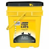 Tidy Cats Clumping Cat Litter for Multiple Cats, 4-in-1 Strength- 35 lb