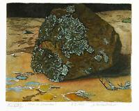 Aquarellierte Radierung Nikolaus STÖRTENBECKER (*1940 D), handsigniert