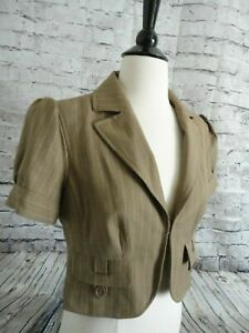 Ann Taylor Loft NWT!! Women's Crop Blazer Size 8 Tan  Short Sleeve jacket