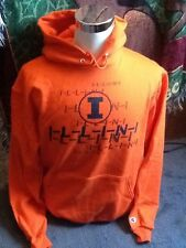 champion illini hoodie adult large illinois u of i