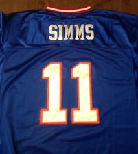 NY GIANTS #11 PHIL SIMMS  THROWBACK BLUE JERSEY SIZE 56 SUPER BOWL 25
