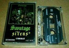 Savatage - Sirens / MC Kassette / 1985 / Combat / Cassette Tape / Heavy Metal