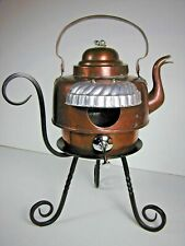 COPPER Tea KETTLE BIRDHOUSE Recycled Found Object  Folk Art by Sally Colby