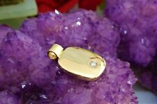 9CT (375) SOLID YELLOW GOLD PENDANT-(23mm x 14mm) 5.7 gr.