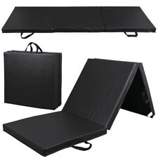 Heavy Duty Folding Mat Thick Foam Fitness Exercise Gymnastics Panel Black 9'x 3'