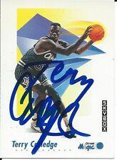 Signed 1991-92 Sky Box Terry Catledge Orlando Magic Basketball card #202