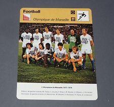 FOOTBALL 1977-1978 OLYMPIQUE MARSEILLE OM VELODROME TRESOR LINDEROTH BERDOLL