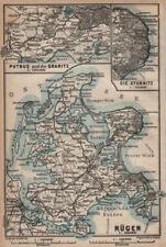 RÜGEN. Stralsund Bergen. Rugen Putbus Granitz Stubnitz. Germany 1910 old map