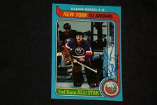 """GLENN """"CHICO"""" RESCH 1979-80 TOPPS SIGNED AUTOGRAPHED CARD #20 NEW YORK ISLANDERS"""