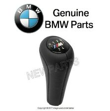 "BMW E46 323Ci 323i 325i 328i Shift Knob Black Leather with ""M"" 5 Speed Emblem"