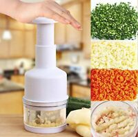 Pressing Vegetable Garlic Onion Food Chopper Cutter Slicer Peeler Dicer White