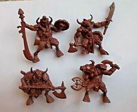 4pcs Minotaur Plastic Fantasy Battles Toy Soldier 54mm 1/32 scale Tehnolog