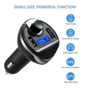 T20 Bluetooth Car FM Transmitter Car Charger MP3 Player USB for iPhone Samsung