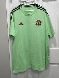 Adidas Manchester United Glory Mint/Green Shirt Men's Size 2XL NWT (GK9434)