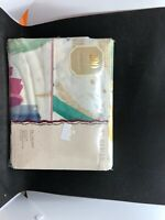JC Penney Full Flat Sheet Riviera 200 Count Percale New Old Stock