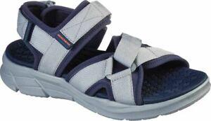 Skechers 237050 Charcoal/ Black And Navy White Men's Sandal