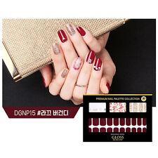 Gloss Gel Nail Strip Manicure 30 Nails Dgnp15 Laque Burgundy Nail Art K-Beauty