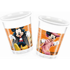 Mickey & Minnie Mouse Halloween Party 200ml Plastic Cups X 8
