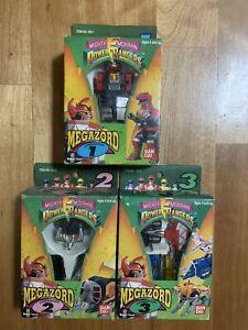 BANDAI 1992 made in Taiwan Mighty Morphin Power Rangers Megazord figures set