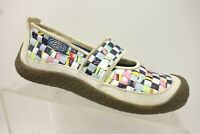 Keen Woven Multi-Color Leather Casual Slip On Walking Loafers Shoes Women's 5.5