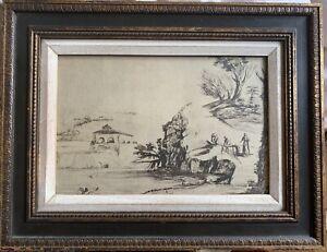 Antique Italian Old Master Drawing - Giovanni Francesco Barbieri - Rare Guercino