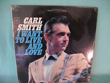 Carl Smith, I Want To Live And Love, Columbia Records CS 9093, 1965, SEALED